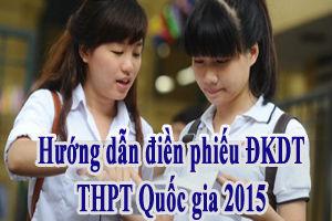 Hướng dẫn cách ghi phiếu đăng ký dự thi THPT 2015